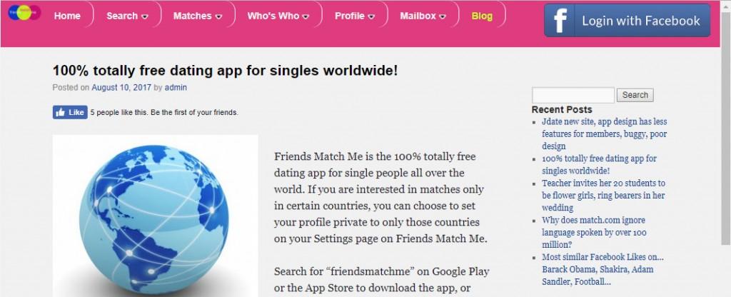 Friends Match Me Blog
