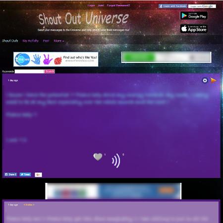 Shout Out Universe, timeline app