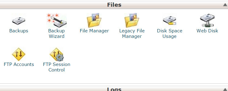 cPanel, File Manager