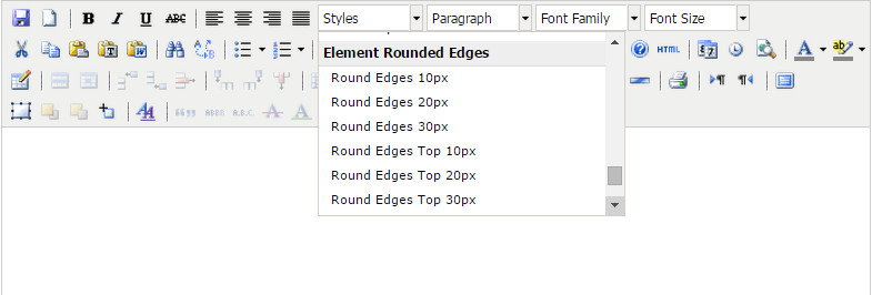 Editor Box Rounded Edges