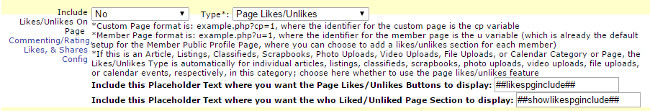UltimateWB, Include likes/unlikes on page